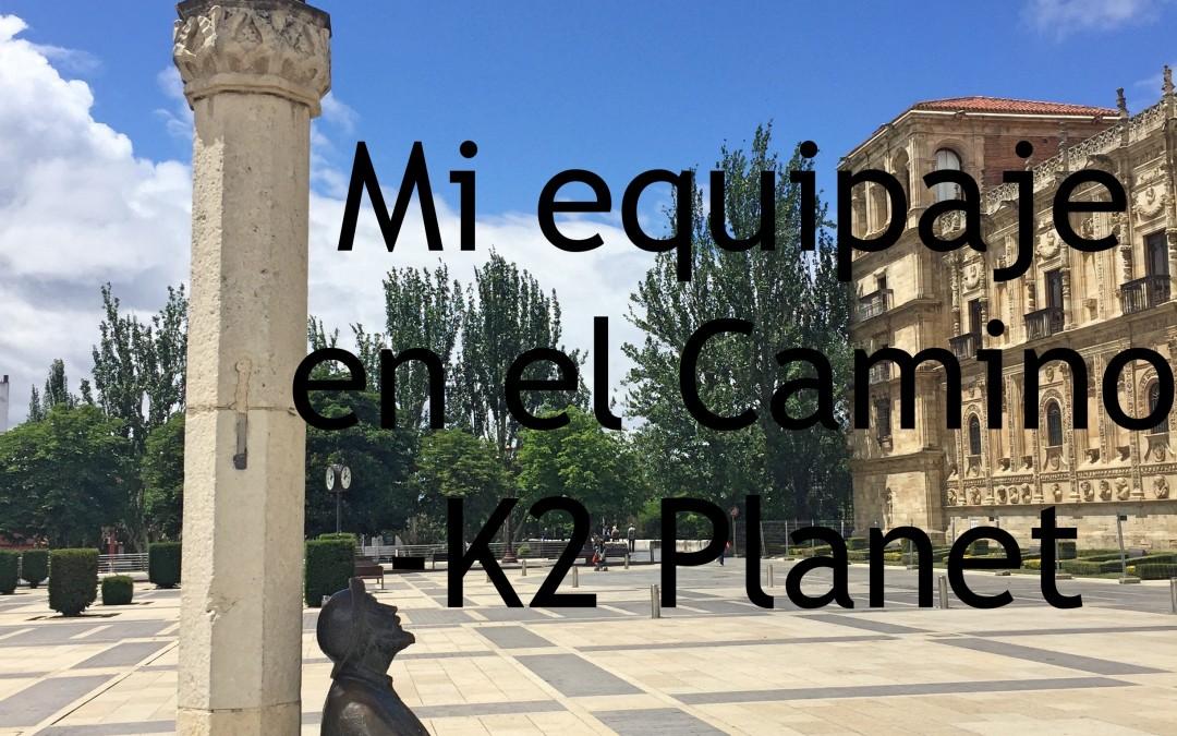 Mi equipaje en El Camino de Santiago