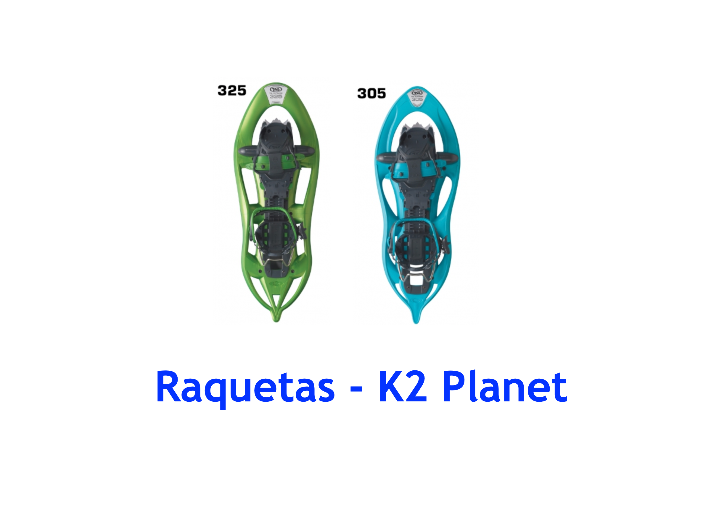 Raquetas TSL 325 Ride y 305 Ride